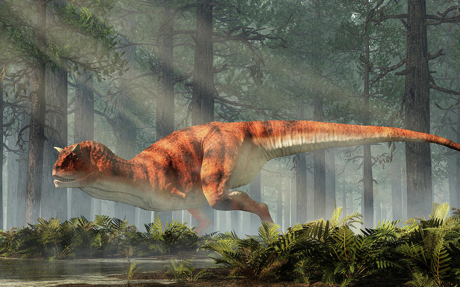 A CARNOTAURUS in the Forest