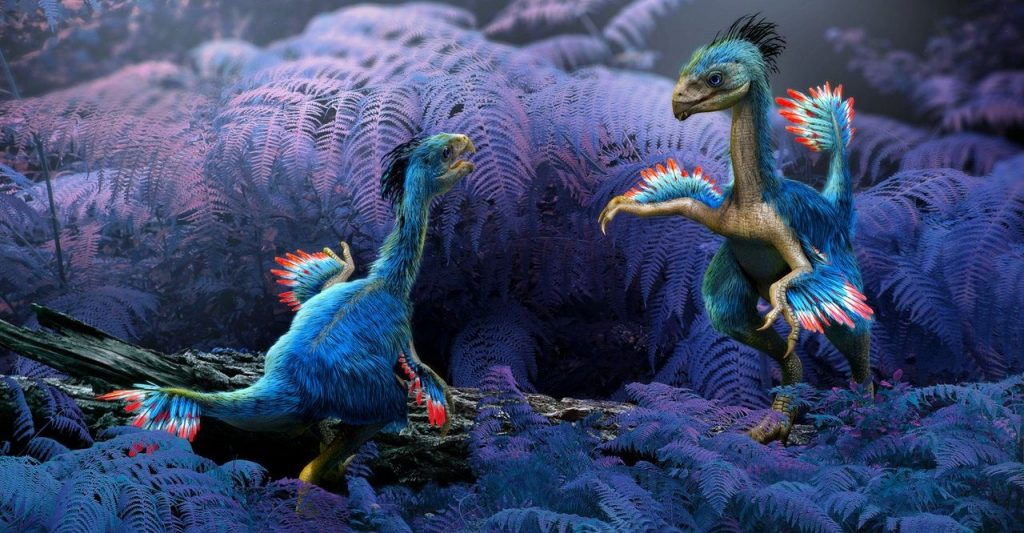 Dinosaur-Renaissance-Revolution-in-Dinosaur-Research-Two-Feathered-Dinosaurs-in-the-Plants