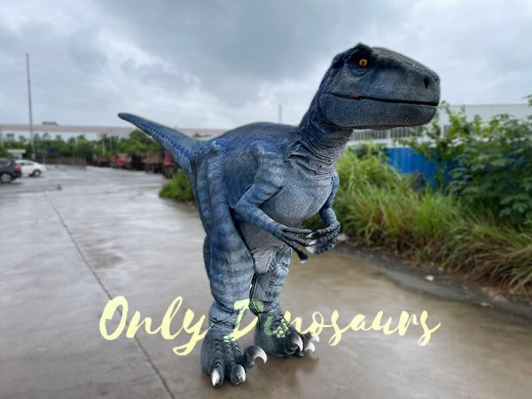 A Blue Raptor Standing on the Ground