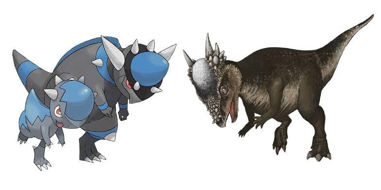 Rampardos-and-Pachycephalosaurus