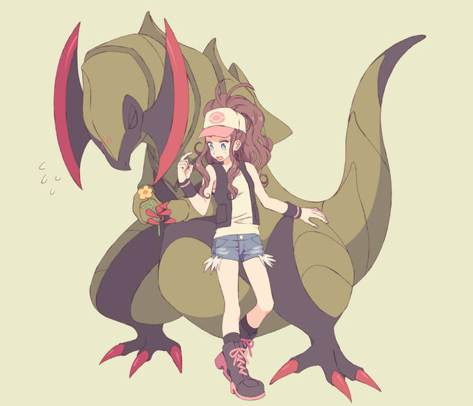 Top-15-Popular-Fossil-and-Dinosaur-Pokemons-That-You-Will-Like-Haxorus-and-Hilda