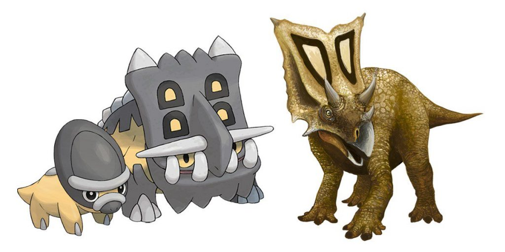Top-15-Popular-Fossil-and-Dinosaur-Pokemons-That-You-Will-Like-Shieldon-and-Bastiodon