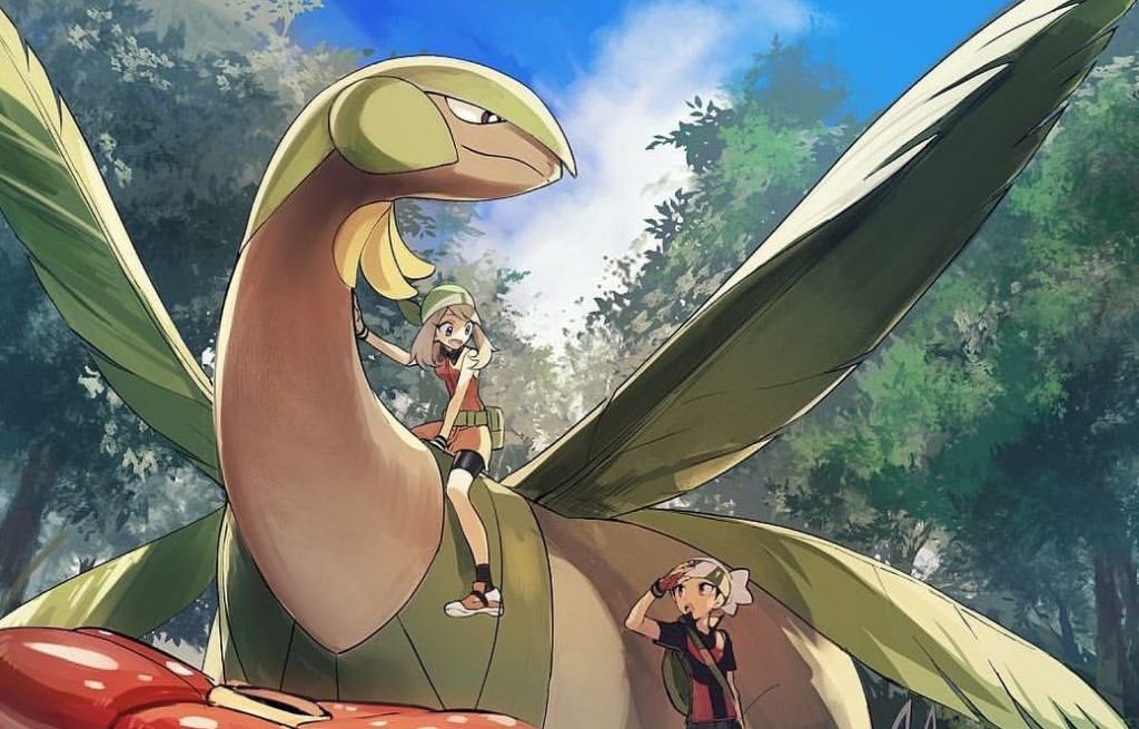 Tropius-and-Its-Pokemon-Trainers