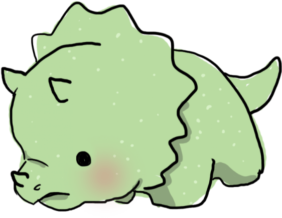 a cute green triceratops