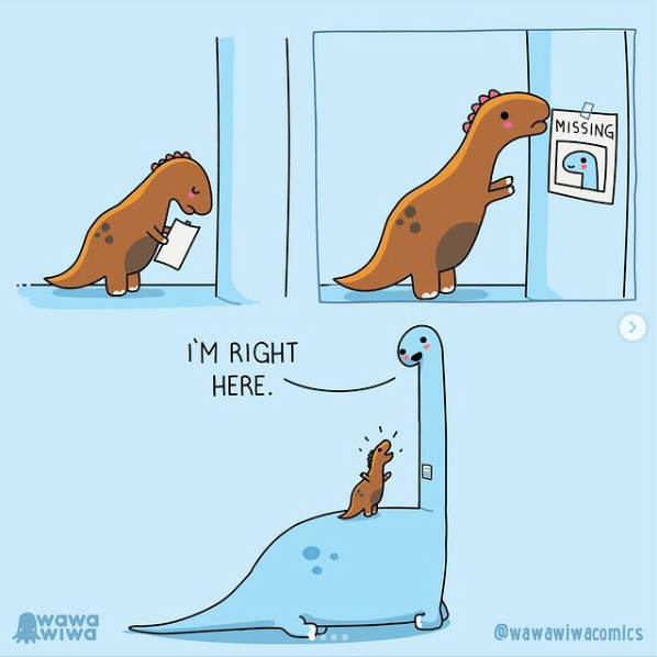 a t-rex and brontosaurus in blue comics