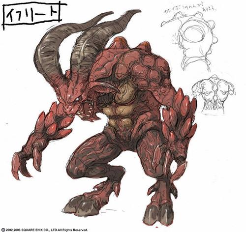 A Dark Red Horned Monster in White Background