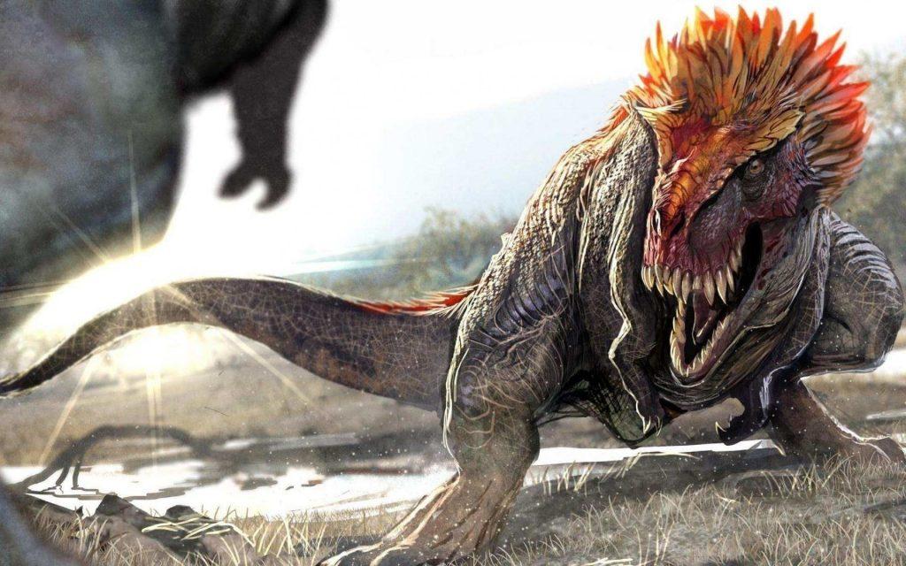 A Scray Roaring T Rex