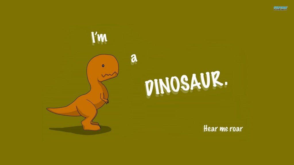 An Orange Dinosaur with a Brown Background