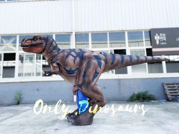 The side of a T-Rex Costume
