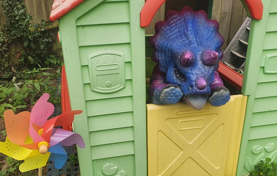 A Blue Baby Triceratops in the Toy Hourse