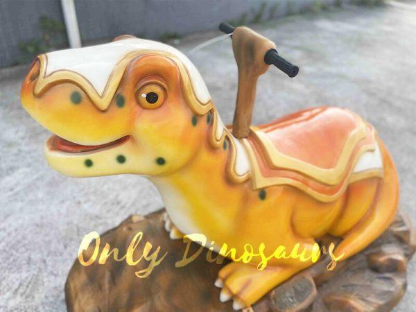 An Orange Smiling Cartoon Armor Dinosaur