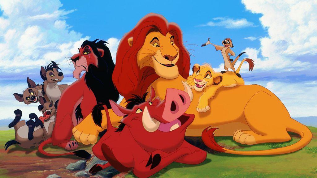Cartoon Animals of Lion King