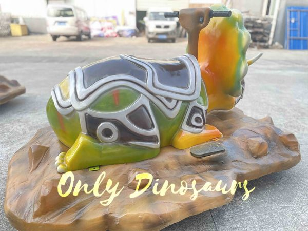 Colorful Triceratops Dinosaur Ride