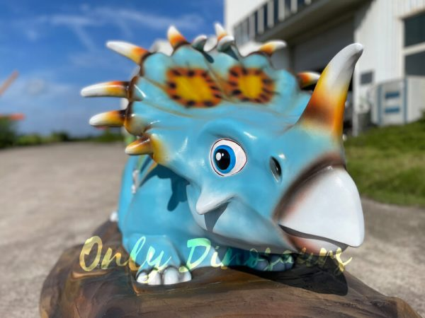 The Head of a Blue Baby Styracosaurus on the Platform