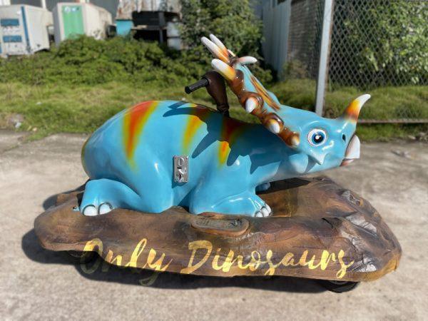 A Blue Baby Styracosaurus on the Platform