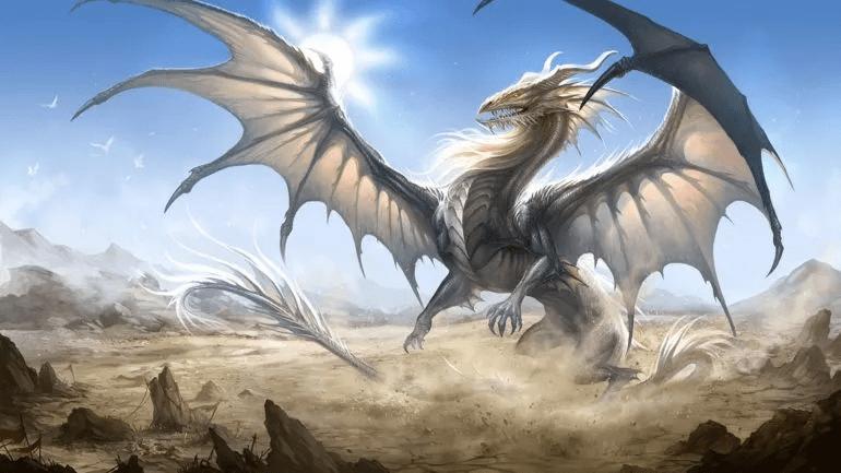 White Dragon on the Ground