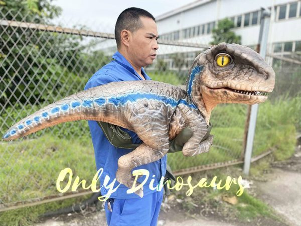 Side of The Realistic Raptor Dino Puppet