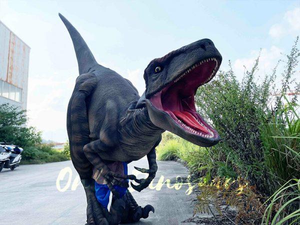 A Roaring Scary Brown Raptor