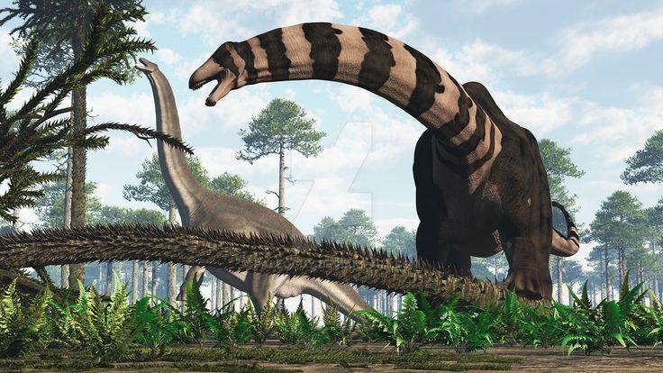 Male and Female Apatosaurus