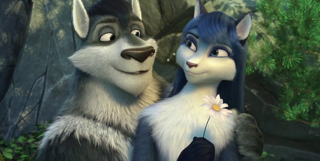 Two Couple Wolves