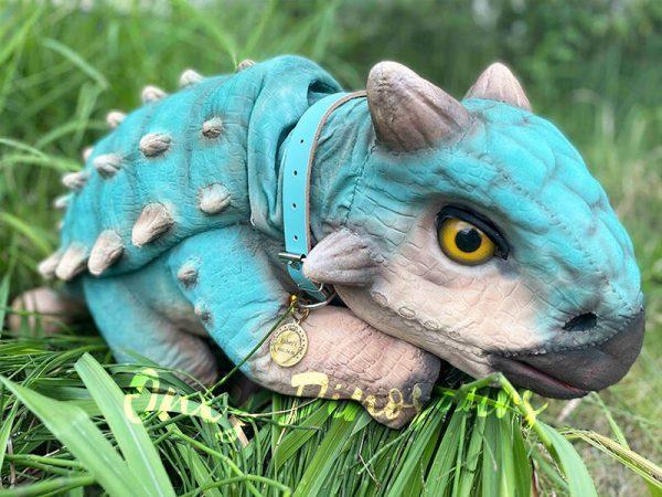 A Blue Baby Ankylosaur on the Glass