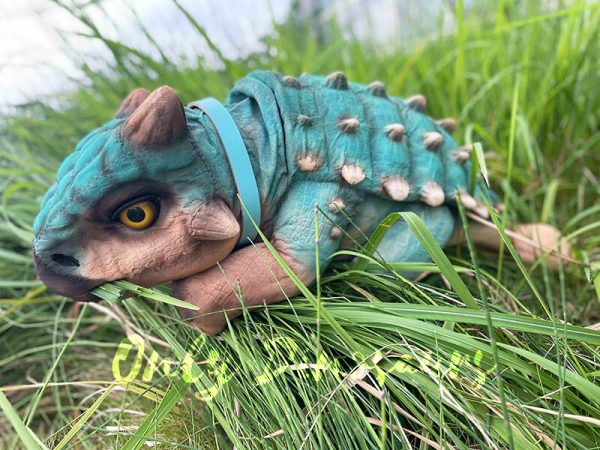 A Blue Baby Ankylosaur in the Glass