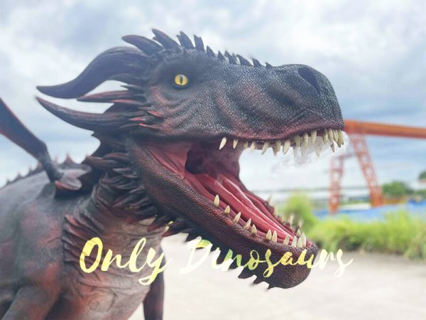 The Head of Dark Red Flying Dragon