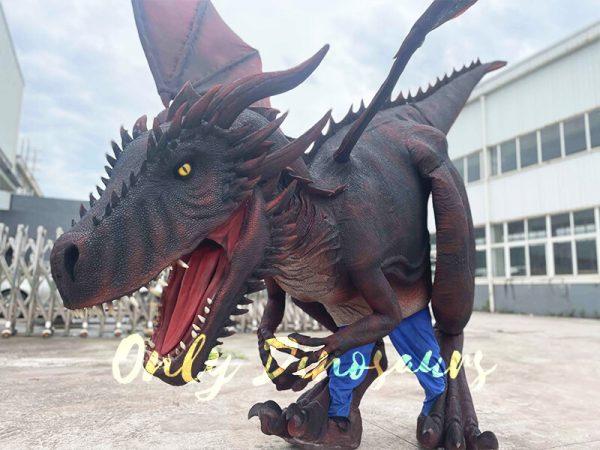 A Sracy Dark Red Flying Dragon