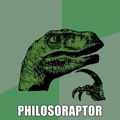 A Green Velociraptor Head