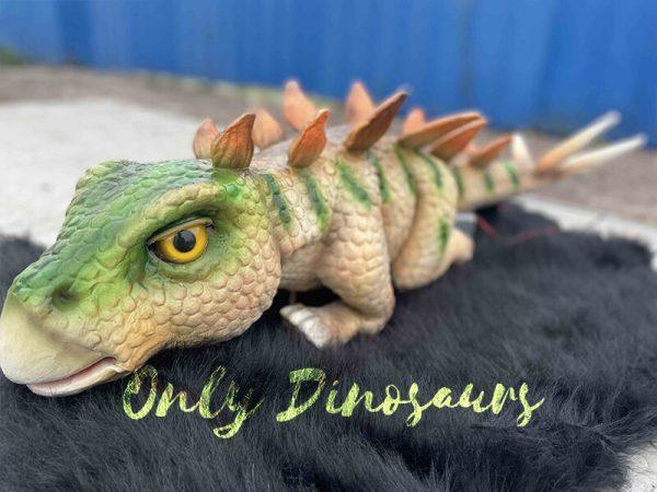 Green Stegosaurus Puppet