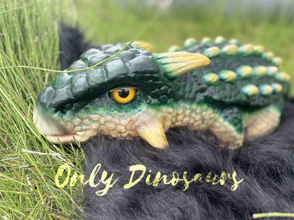 Green Ankylosaur Dinosaur