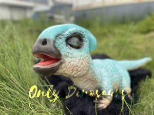 Baby Blue Parasaurolophus Animatronic Puppet