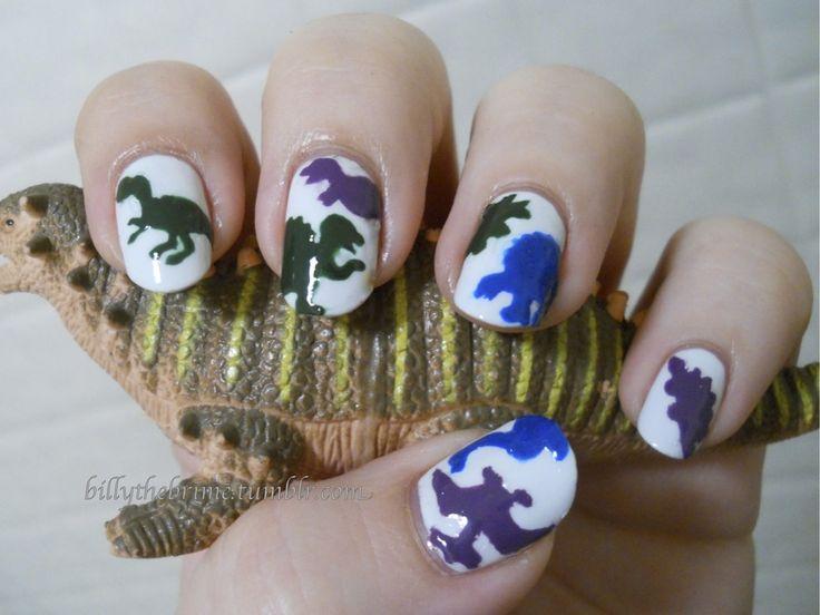Cool and Warm Dinosaur Nails