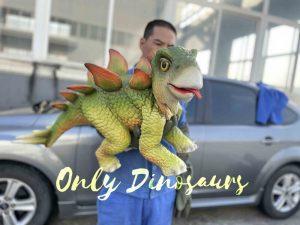 Cute Green Baby Stegosaurus Puppet False Arm