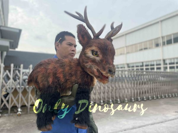 a man with the reindeer