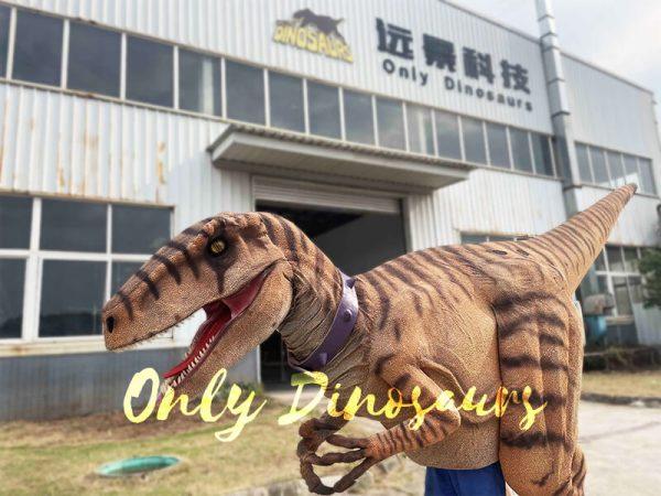 Lifelike Dino Raptor Costume for Show Part5