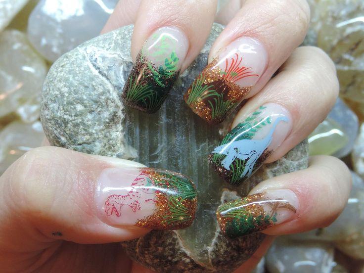 Shinnying Dinosaur Nails