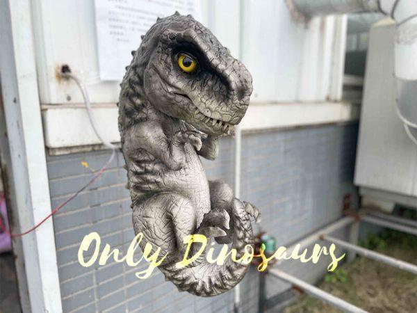 Grey Dino T-Rex Puppet