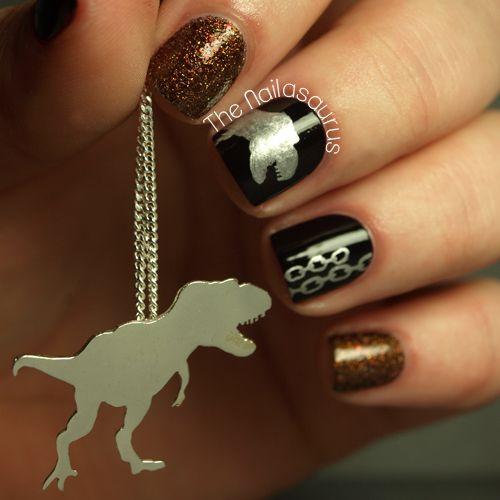 The Nailsaurus Black Nails