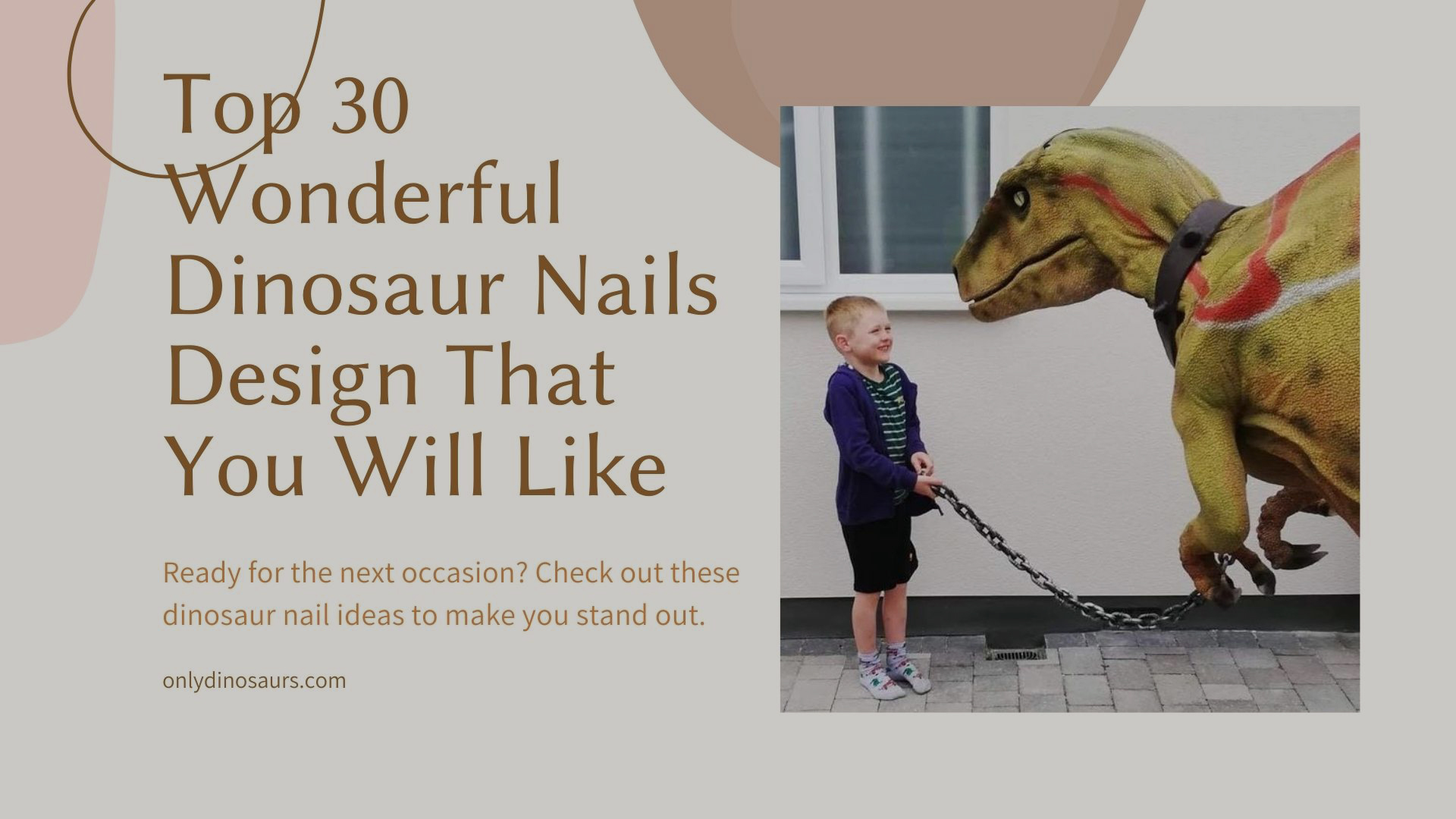 Top 30 Wonderful Dinosaur Nails Design That You Will Like