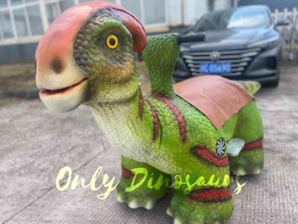 A Green Baby Dinosaur on the Ground