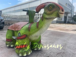 Vivid Baby Parasaurolophus Dinosaur Scooter
