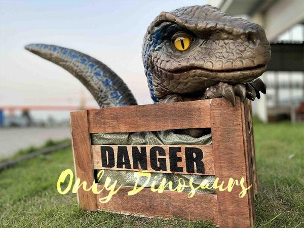 Adorable Crate Raptor Dinosaur Puppet for Kids2