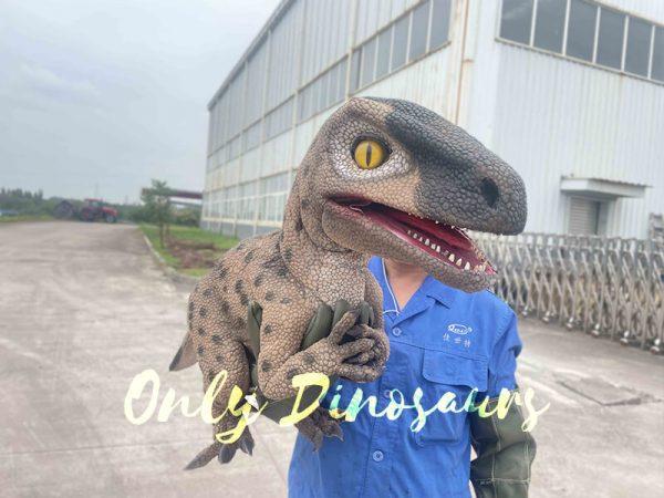 Speckled Raptor Dino Puppet False Arm2