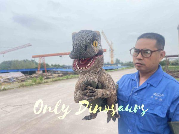 Speckled Raptor Dino Puppet False Arm3