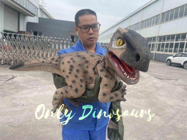 Speckled Raptor Dino Puppet False Arm5