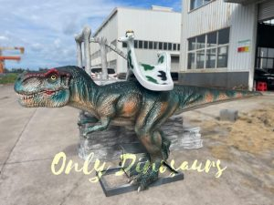 Stationary T-Rex Dino Kiddie Ride for Park