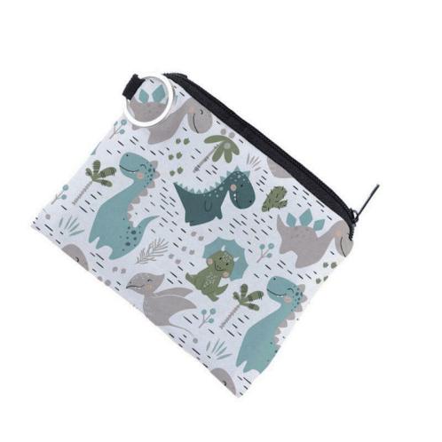 a white dinosaur wallet