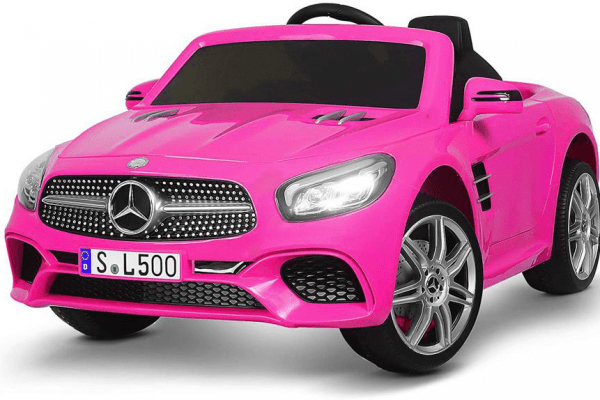 electric-rides-for-kids-a-hot-pink-Mercedes-Benz-electric-car-for-kids