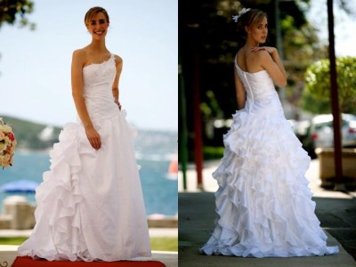 one shoulder wedding dress | pre-loved wedding dresses australia
